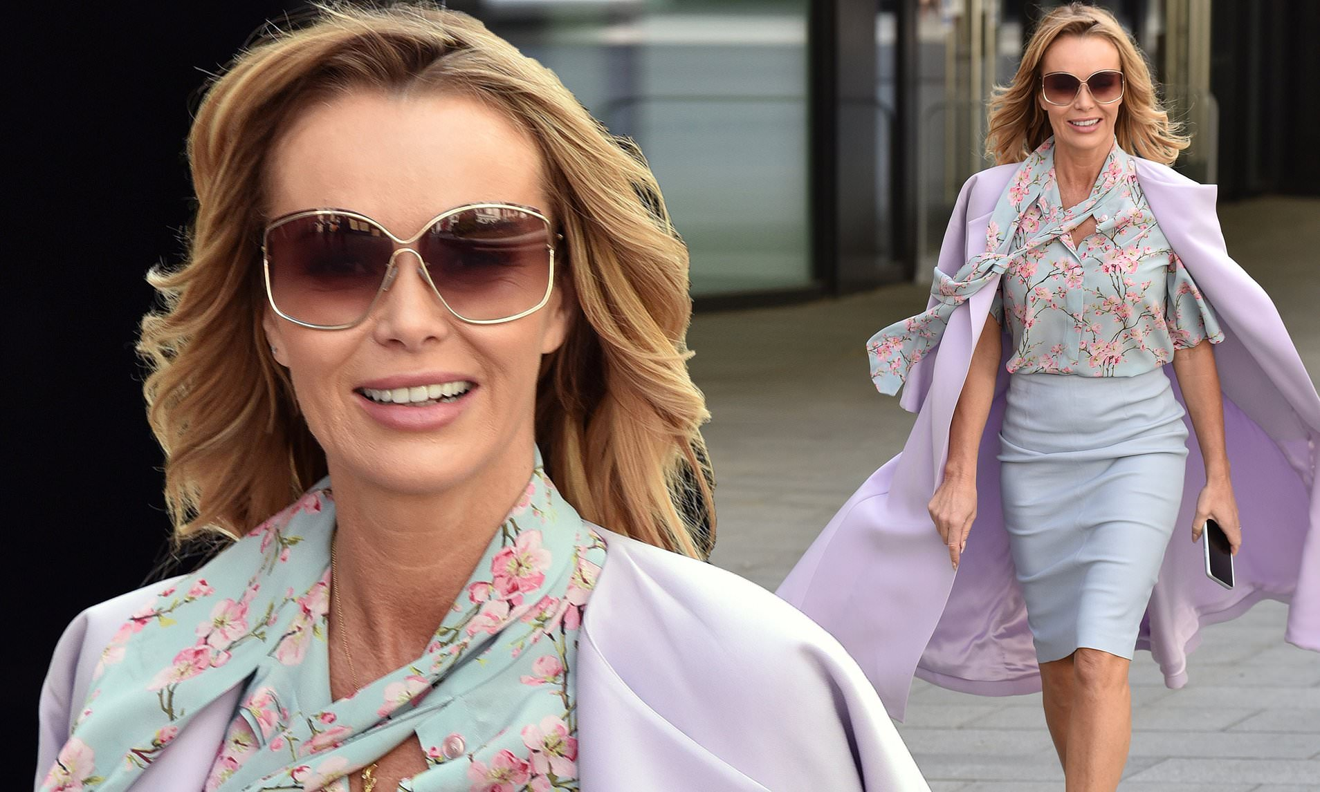 Amanda Holden in the Prettiest Pastel Outfit