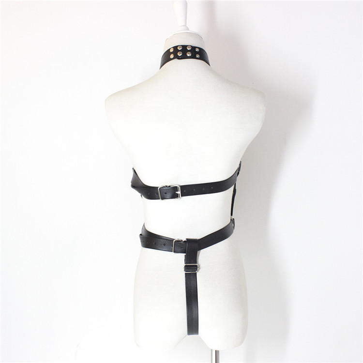 Adult goods leather bondage clothes stage props nightclub bar women's clothing