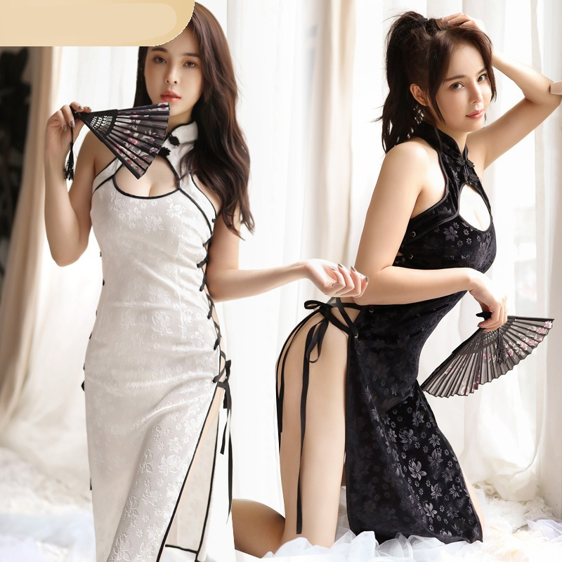 Two pieces of polyester slim dress with bandage