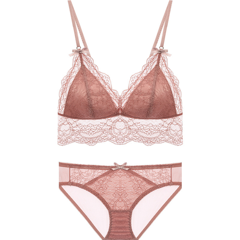 French thin section without steel ring underwear set