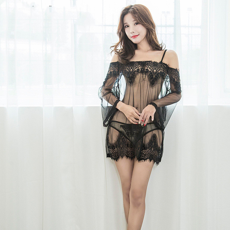 Sexy lingerie set see through
