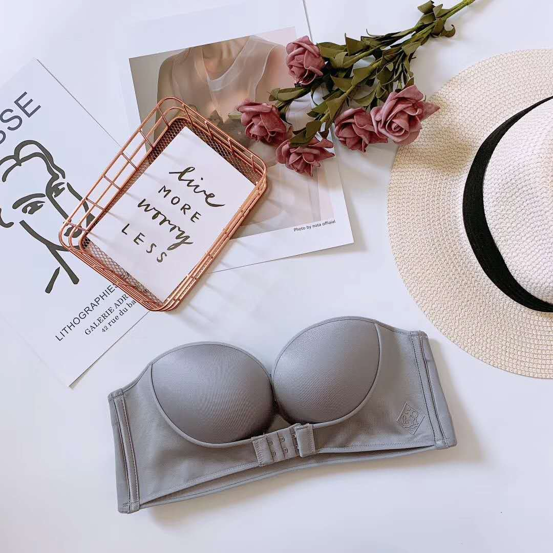 Invisible bra with strapless front buckle